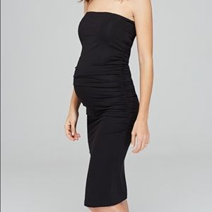 Black strapless maternity dress worn once